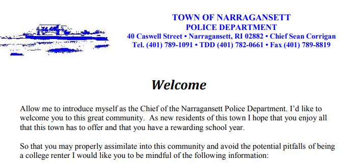 police res letter pt 1